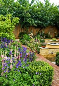 spring garden at Chelsea flower show